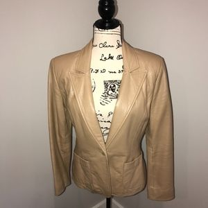 The Limited Leather Blazer